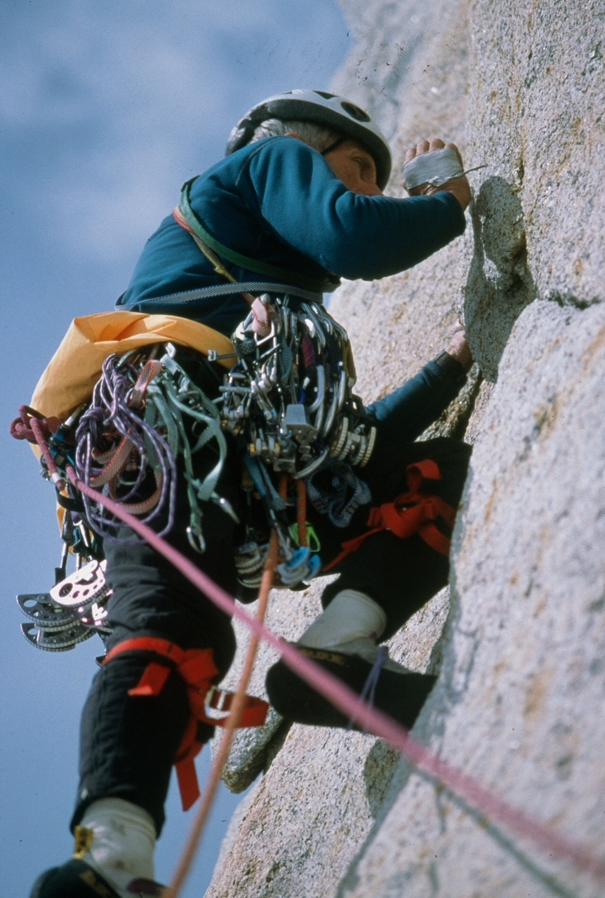 Jim Donini_on the first ascent of Cerro Pollone in Patagonia