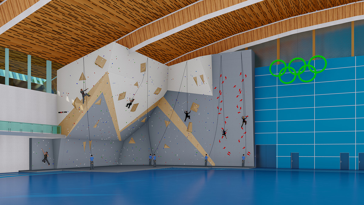 vimff richmond oval climbing wall