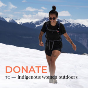 VIMFF donate to indigenous women outdoors product x