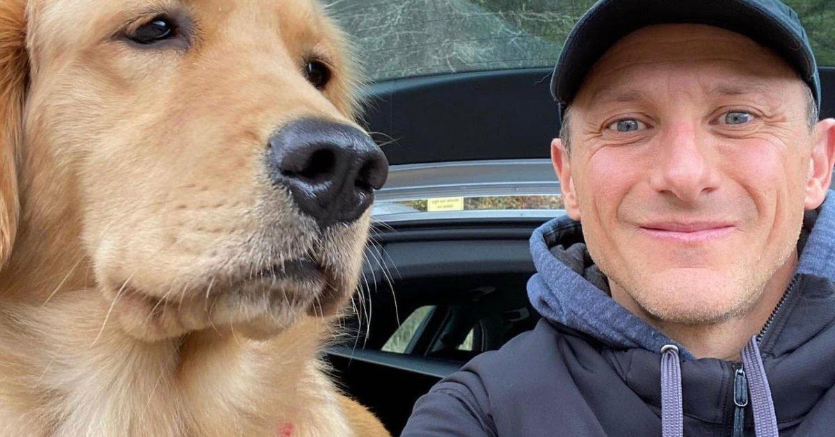 Dan Poggi with his dog