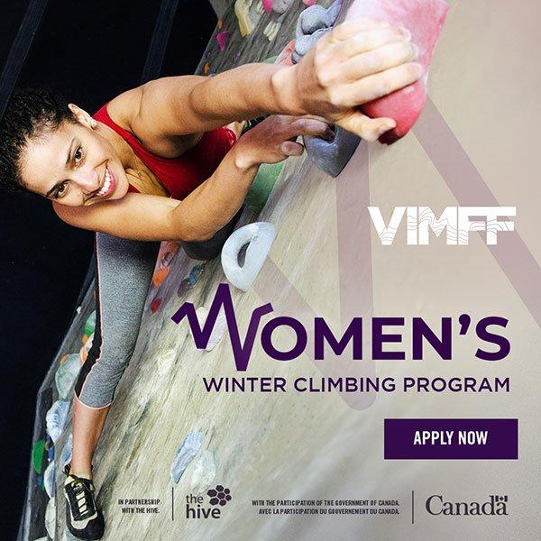 VIMFF womens winter climbing program apply now cta x