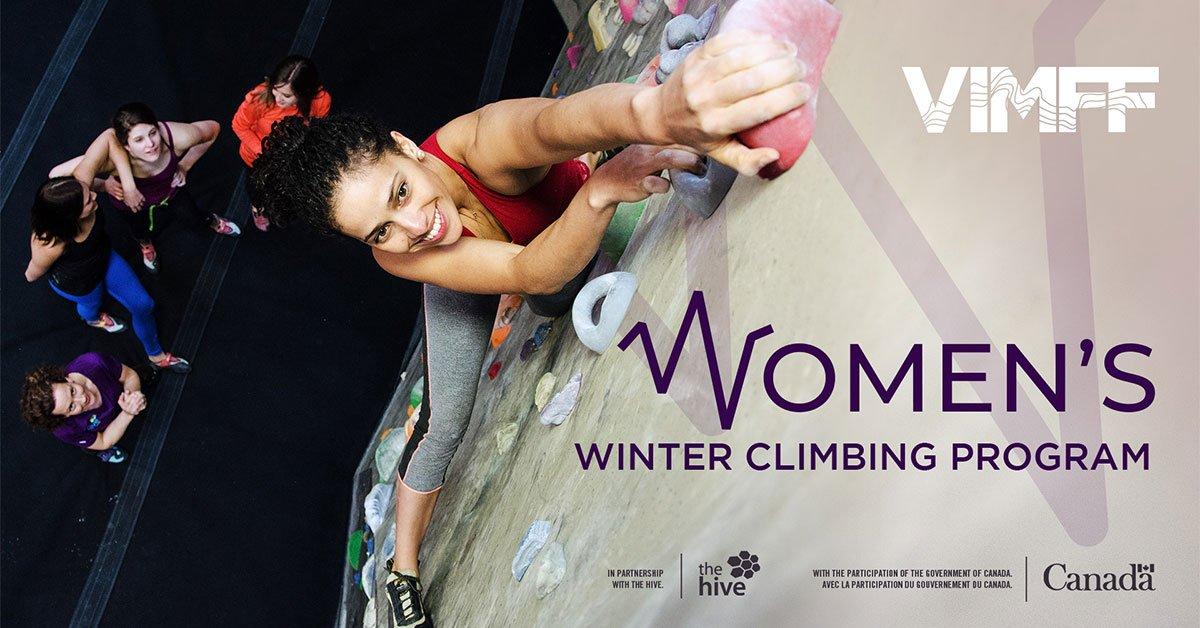 VIMFF womens winter climbing program facebook x